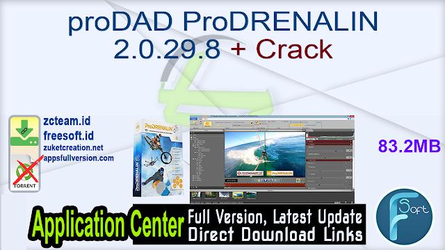 proDAD ProDRENALIN 2.0.29.8 + Crack_ ZcTeam.id