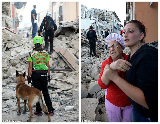 «Мы слышали, как под завалами кричат дети...» Землетрясение в Италии унесло сотни жизней.