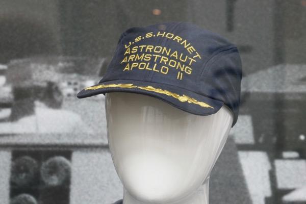 First Man USS Hornet Astronaut Armstrong Apollo 11 cap