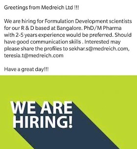 Job Opening at Rusan Pharma Ltd, Send Your Resume Now