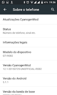 CyanogenMod 12.1 Galaxy Grand Duos (Android 5.1.1) (GT-I9082)  09/08/2016