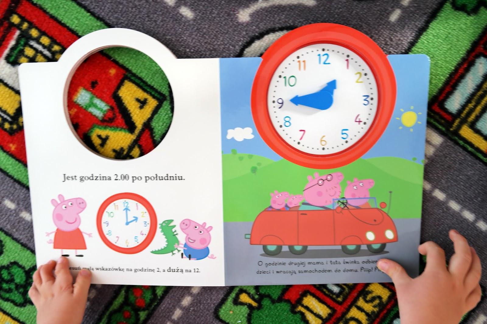 zegar świnki peppy
