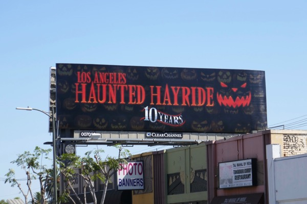 LA Haunted Hayride 10 years billboard
