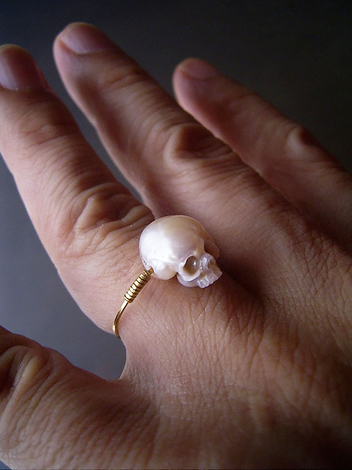 Pearl, Skull, Ring