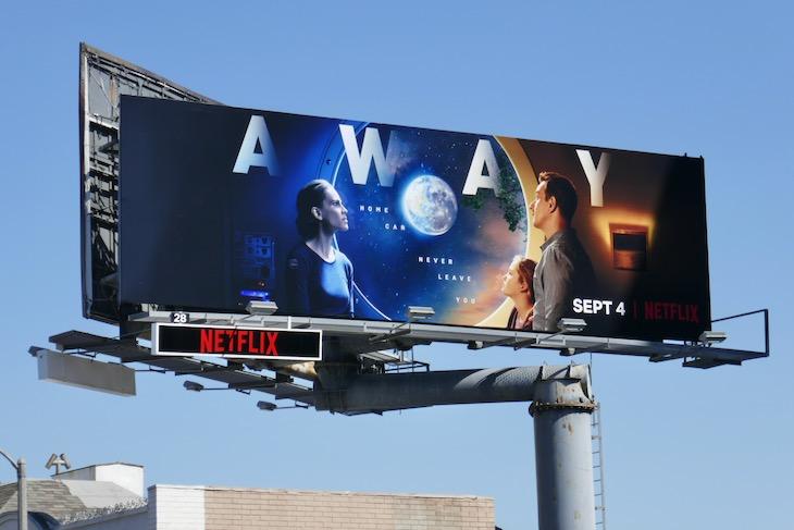 Away series launch billboard