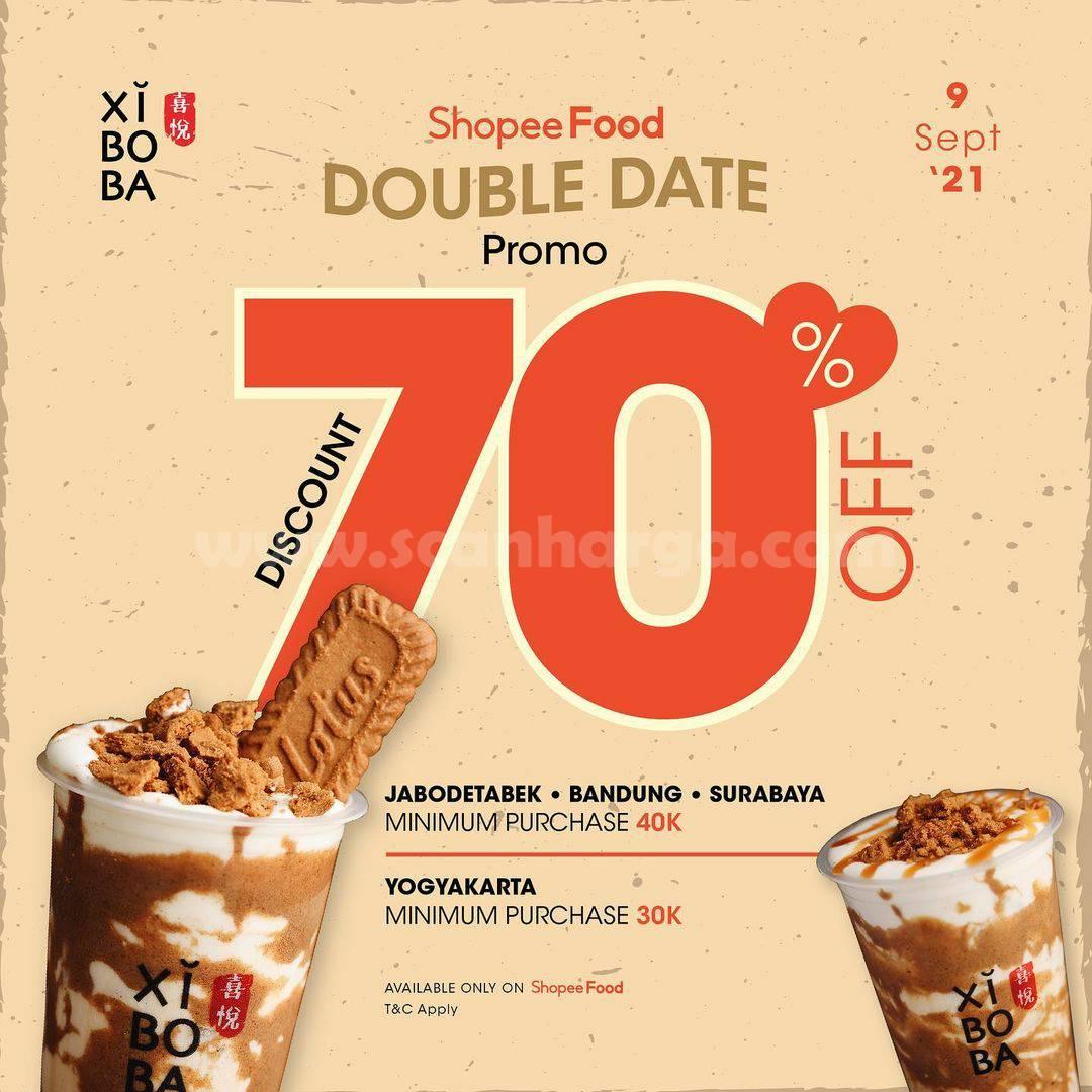 XIBOBA Promo ShopeeFood Double Date 9.9 DISKON hingga 70%