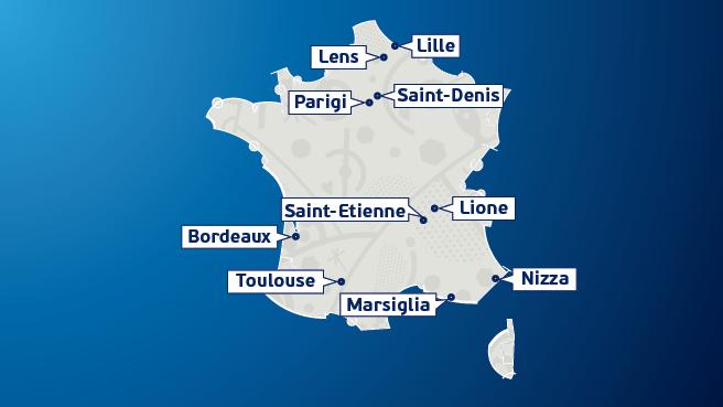 città stadi euro 2016