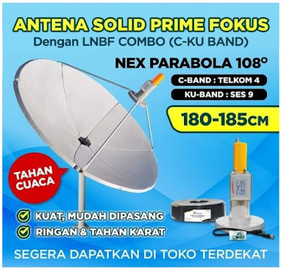 Antenna Parabola Solid Prime Fokus Nex Parabola 75cm