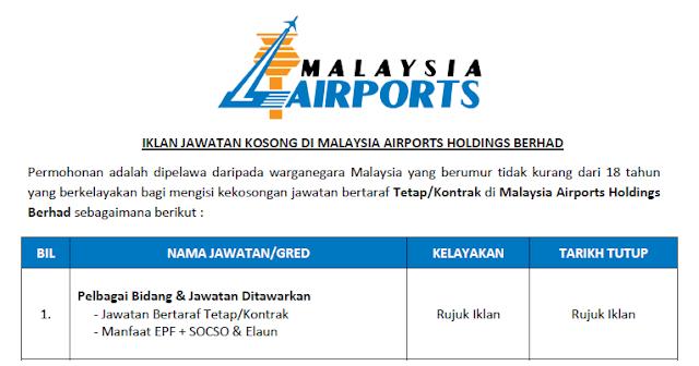 malaysia airports jobs