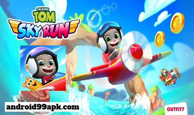 لعبة Talking Tom Sky Run v1.0.1210 مهكرة بحجم 54 ميجابايت للأندرويد