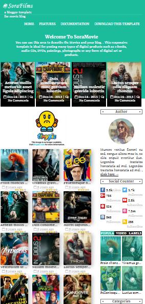 SoraFilms  Blogger Theme Download