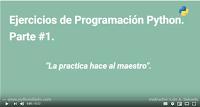 Ejercicios de programación Python