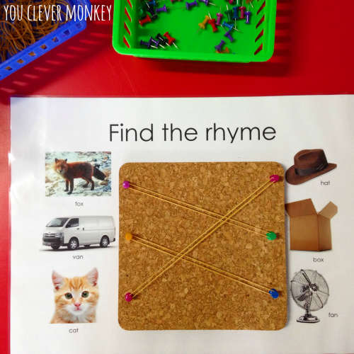 Literacy Center Ideas for Kindergarten and Preschool - Sharing more literacy center ideas to try in your classroom! Perfect for 4-7 year olds as they learn to read and write, recognise rhyme, syllables, beginning letter sounds | you clever monkey