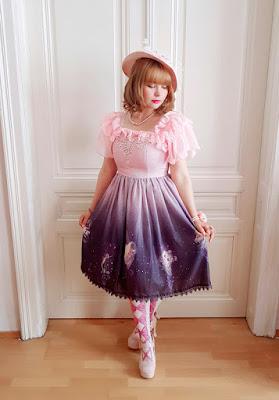 auris wearing a lolita dress