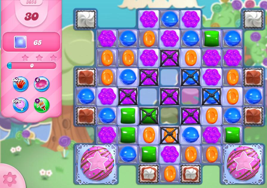 Candy Crush Saga level 3058