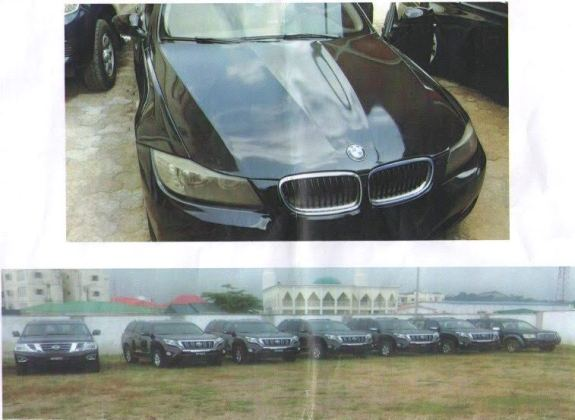 Vehicles Allegedly Recovered From Former IGP, Solomon Arase