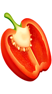 half red chili pepper clipart