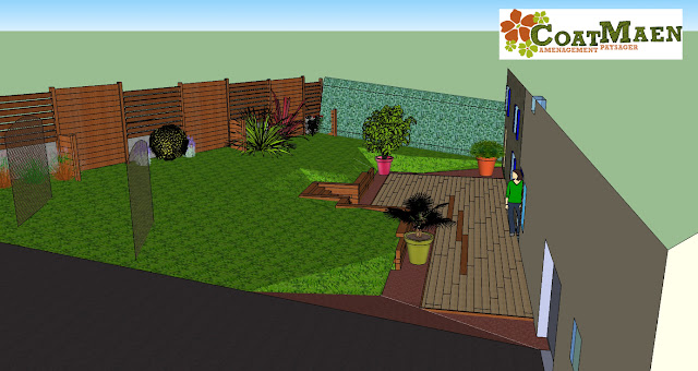 Plan aménagement jardin Coat Maen