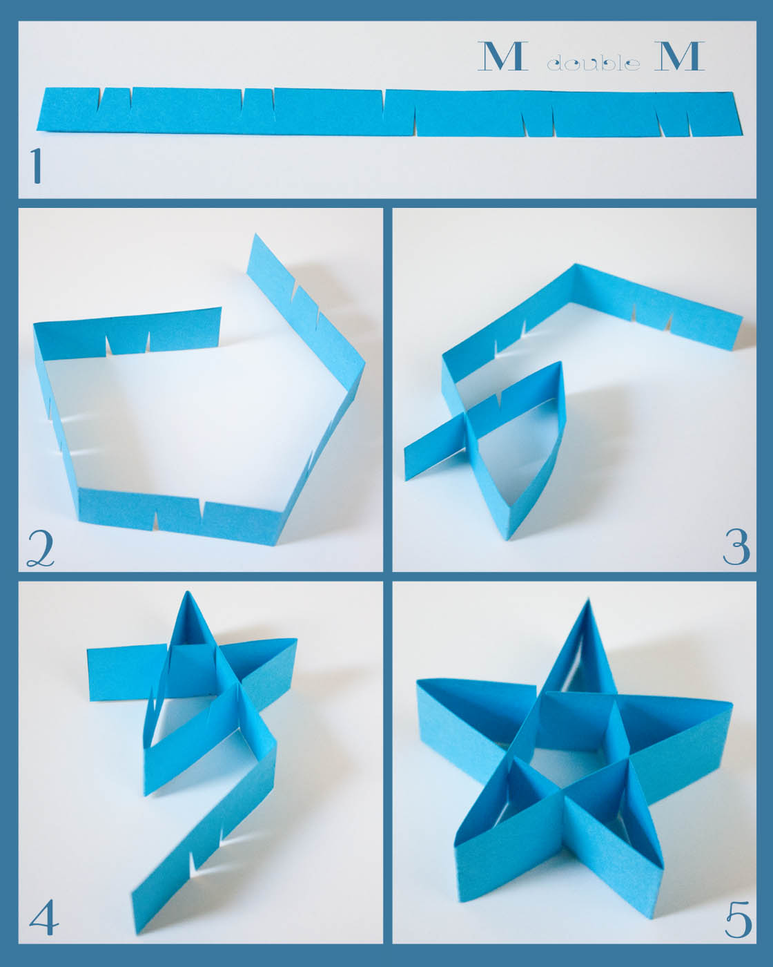 double M: Folded paper stars (DIY).
