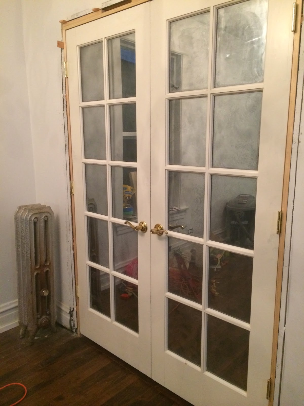 Mulford Rowhouse Diy Mirroring French Doors With Mirror