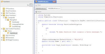 Функции на основе пользовательских элементов управления ASP.NET (User Controls)