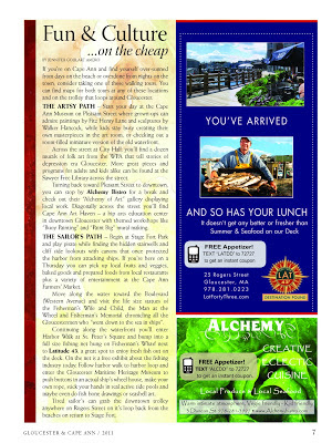 Latitude 43 Advertorial for Hotel in-room magazine