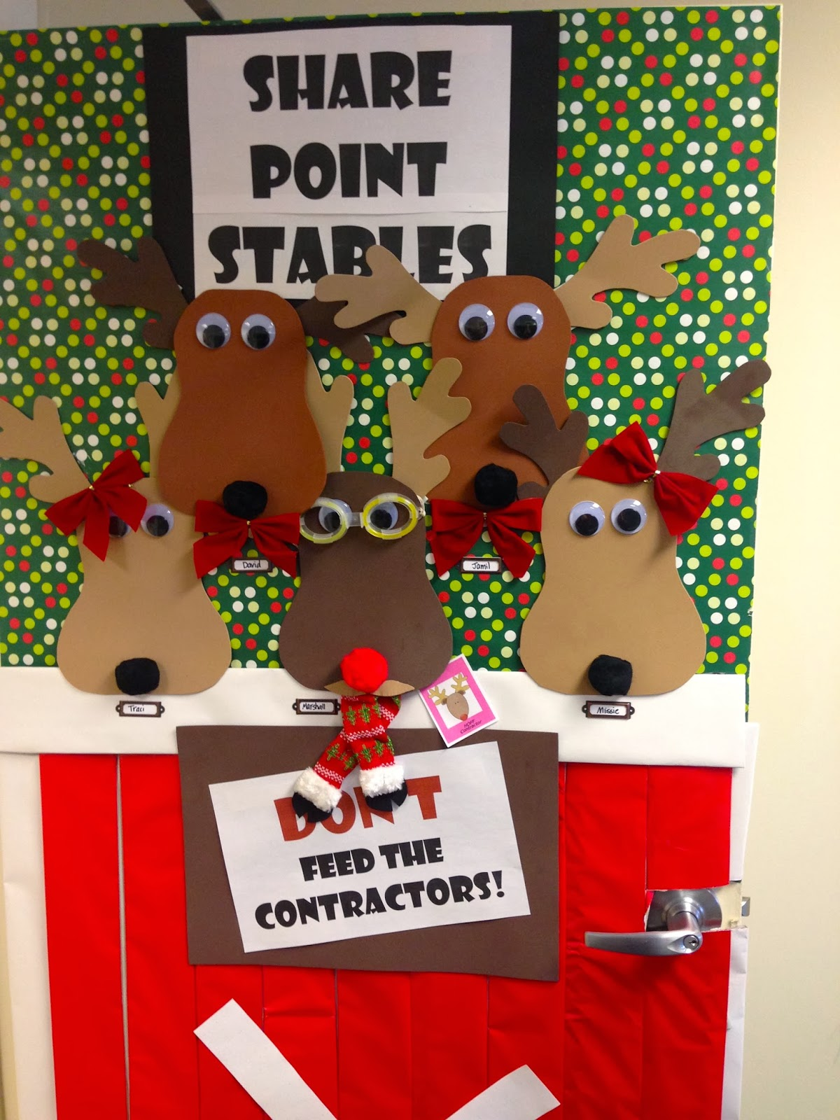 Funny Christmas Door Decorating Contest Ideas