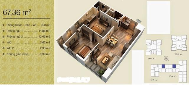 Căn 67,36 m2
