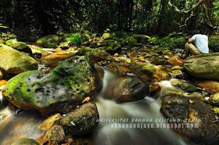 sungai air terjun lakedeng pulau bangka