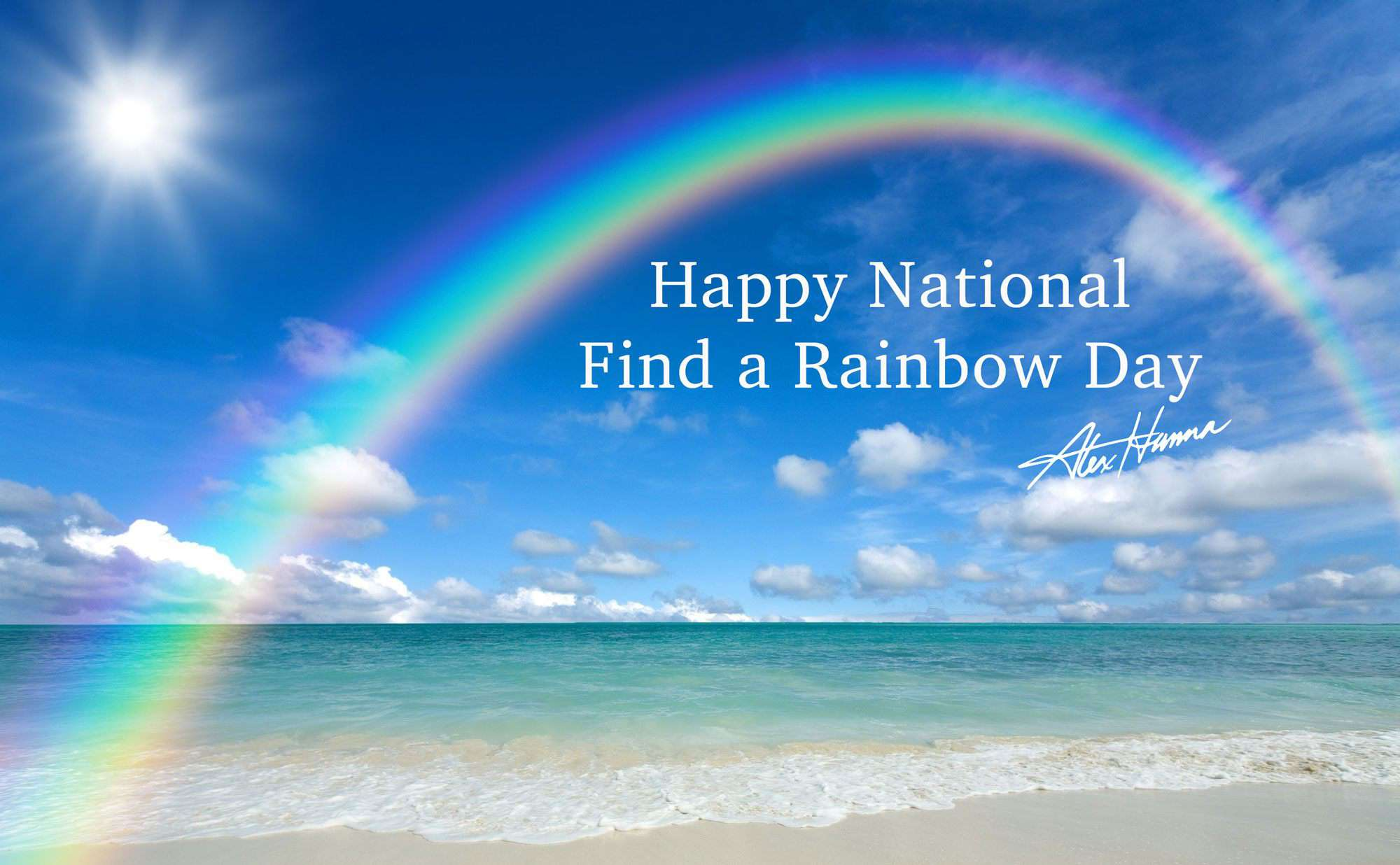 National Find a Rainbow Day Wishes for Instagram