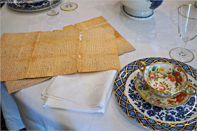 Comedor de la Casa Museo de Harriet Beecher Stowe en Hartford, Connecticut