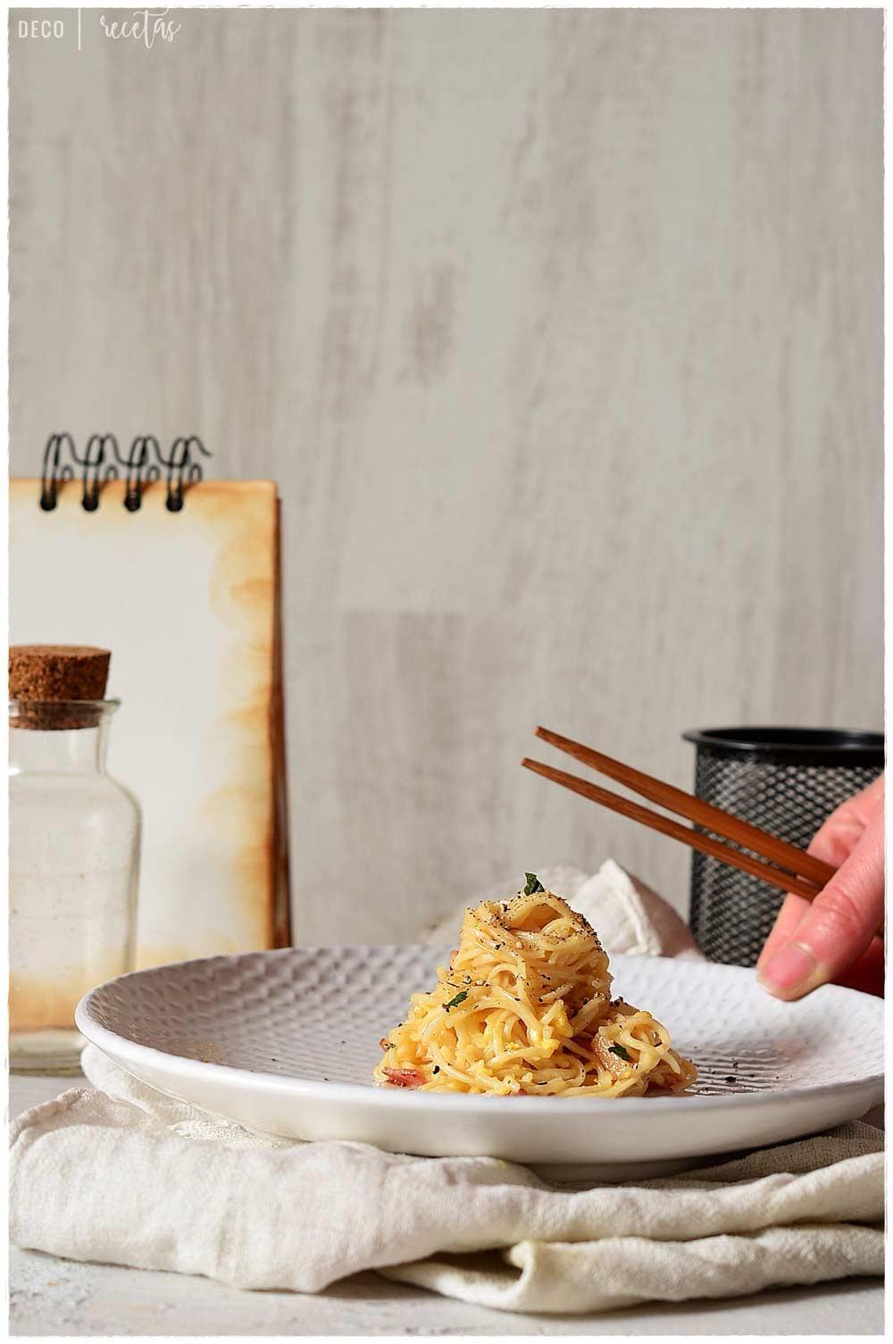 espagueti a la carbonara salsa  carbonara carbonara carbonara pasta pasta carbonara spaghetti carbonara