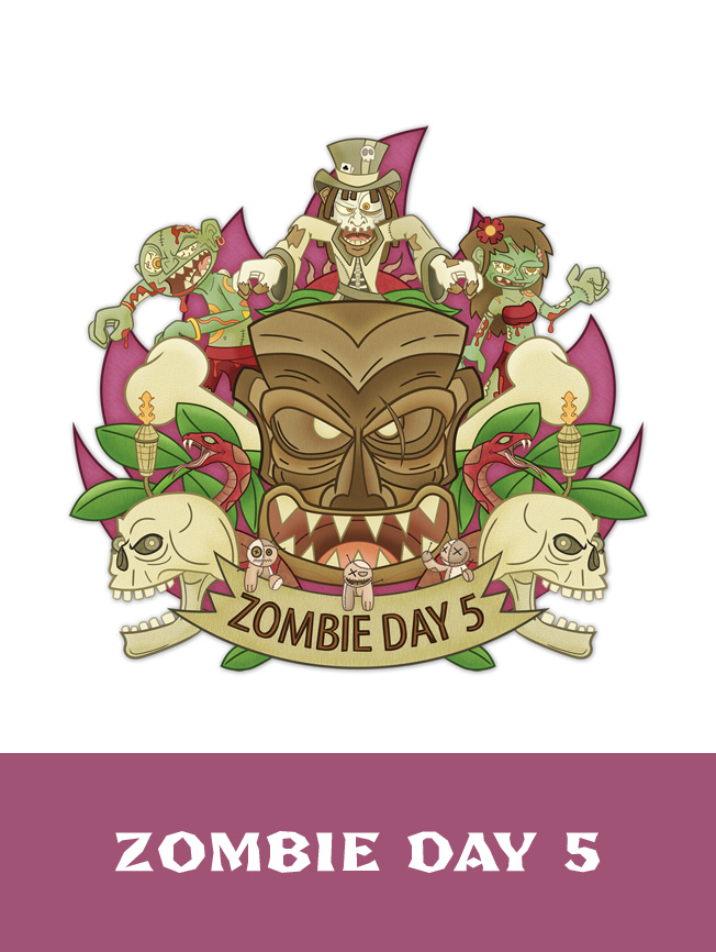 Création illustration pour t-shirt zombie walk