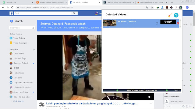 6 Langkah Cara Download Video di Facebook