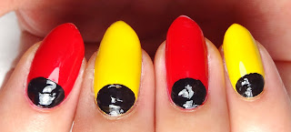 Mickey Head Nails