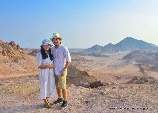 Ed and Lady in Sir Bani Yas