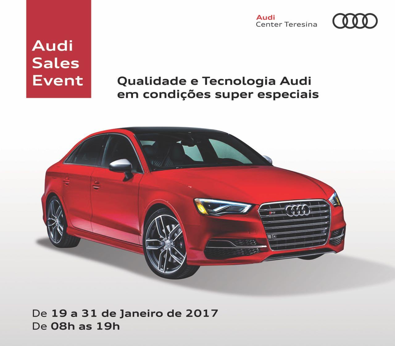 Audi Sales Event: condições especiais durante o mês de janeiro para todos os modelos
