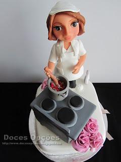 bolo aniversário cozinheira