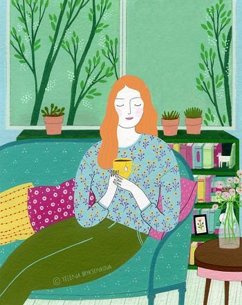 arte por Yelena Bryksenkova   creative emotional illustration art drawings, pictures, deep feelings, happiness   imagenes bellas, emociones sentimientos