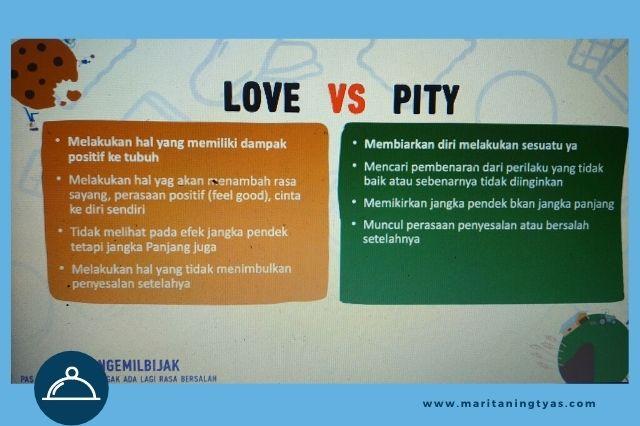 cek kebutuhan ngemil berdasarkan love bukan pity
