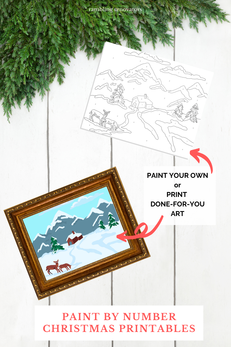 paint by numbers printable, free paint by numbers for adults, paint by numbers christmas art