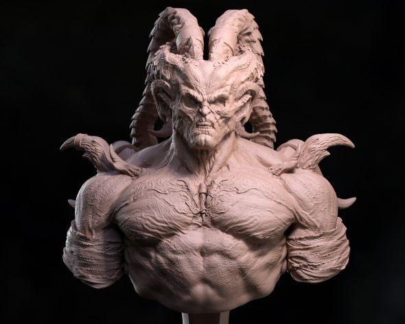 Kevin Cassidy artstation arte modelos 3d esculturas digitais monstros fantasia terror games