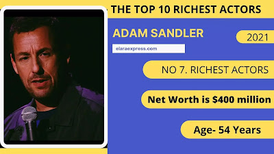 7 of 10 richest actor in the world
