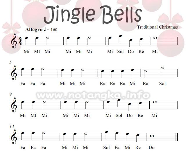 Not Angka Jingle Bells