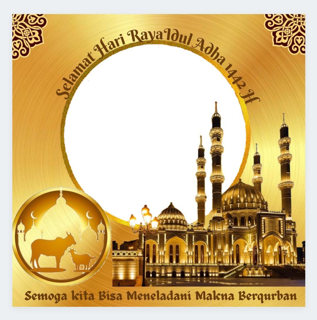 Template Background Bingkai Twibbon Selamat Lebaran Idul Adha Idul Qurban 1442 H - Twibbonize
