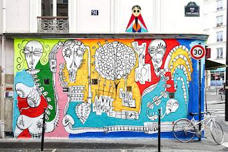 Sunday Street Art : Bojan Nikolic - Galerue Cascades - rue des Cascades - Paris 20