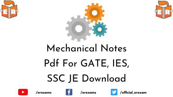 Mechanical Engineering Pdf Notes