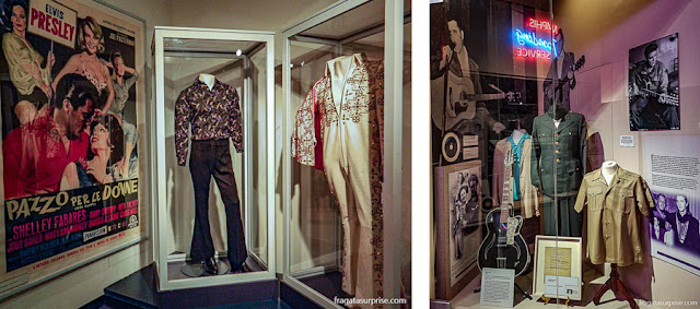 Exposição lembra Elvis Presley no Rock'n'Soul Museum de Memphis