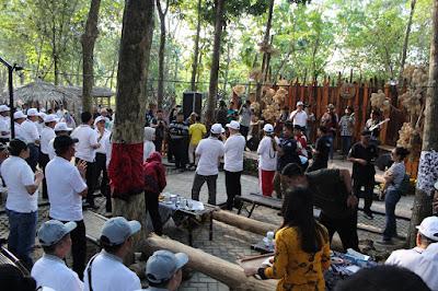 Pasar Semarangan dalam rangka Rakernas XIV APEKSI Tahun 2019 yang berlangsung di Kota Semarang