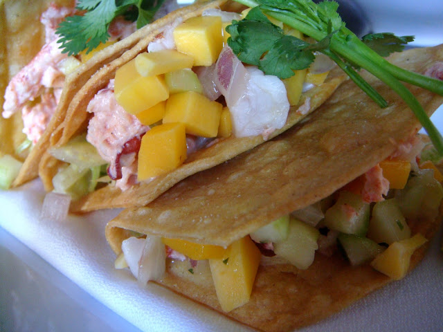 Lobster tacos at Blue Inc., Boston, Mass.